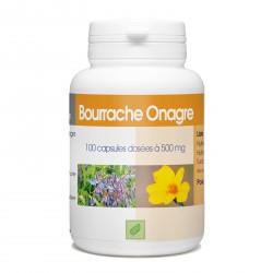 Bourrache Onagre - 100 capsules à 500 mg
