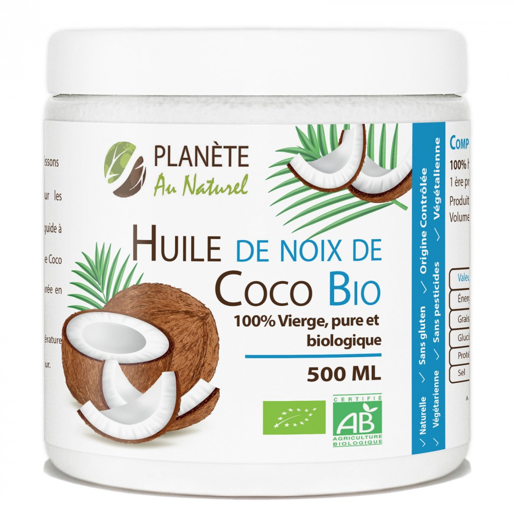 huile de coco bio 500 ml nature et plantes marketplace. Black Bedroom Furniture Sets. Home Design Ideas