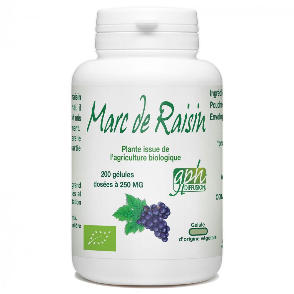 Marc de Raisin Bio - 250mg - 200 gélules végétales