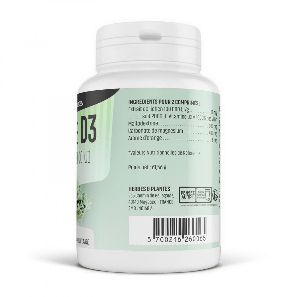 Vitamine D3 Naturelle - 2000 UI