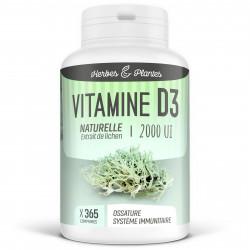 Vitamine D3 Naturelle - 2000 UI - 365 comprimés